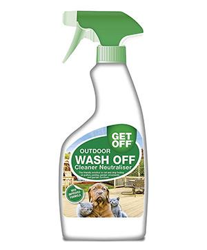 Wash off spray holder katte væk